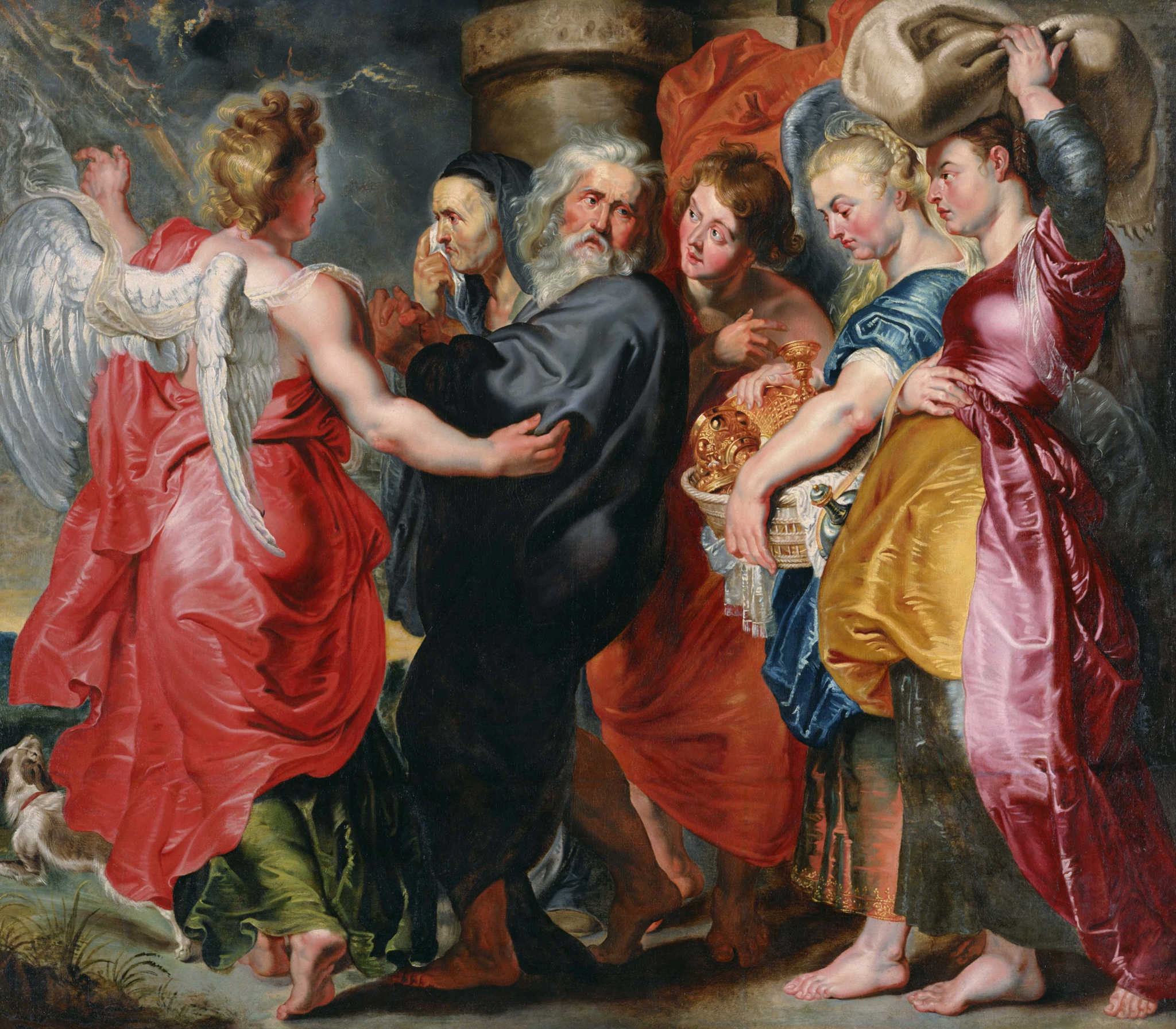 Rubens-1620 the flight of lot and his family from sodom 2k
