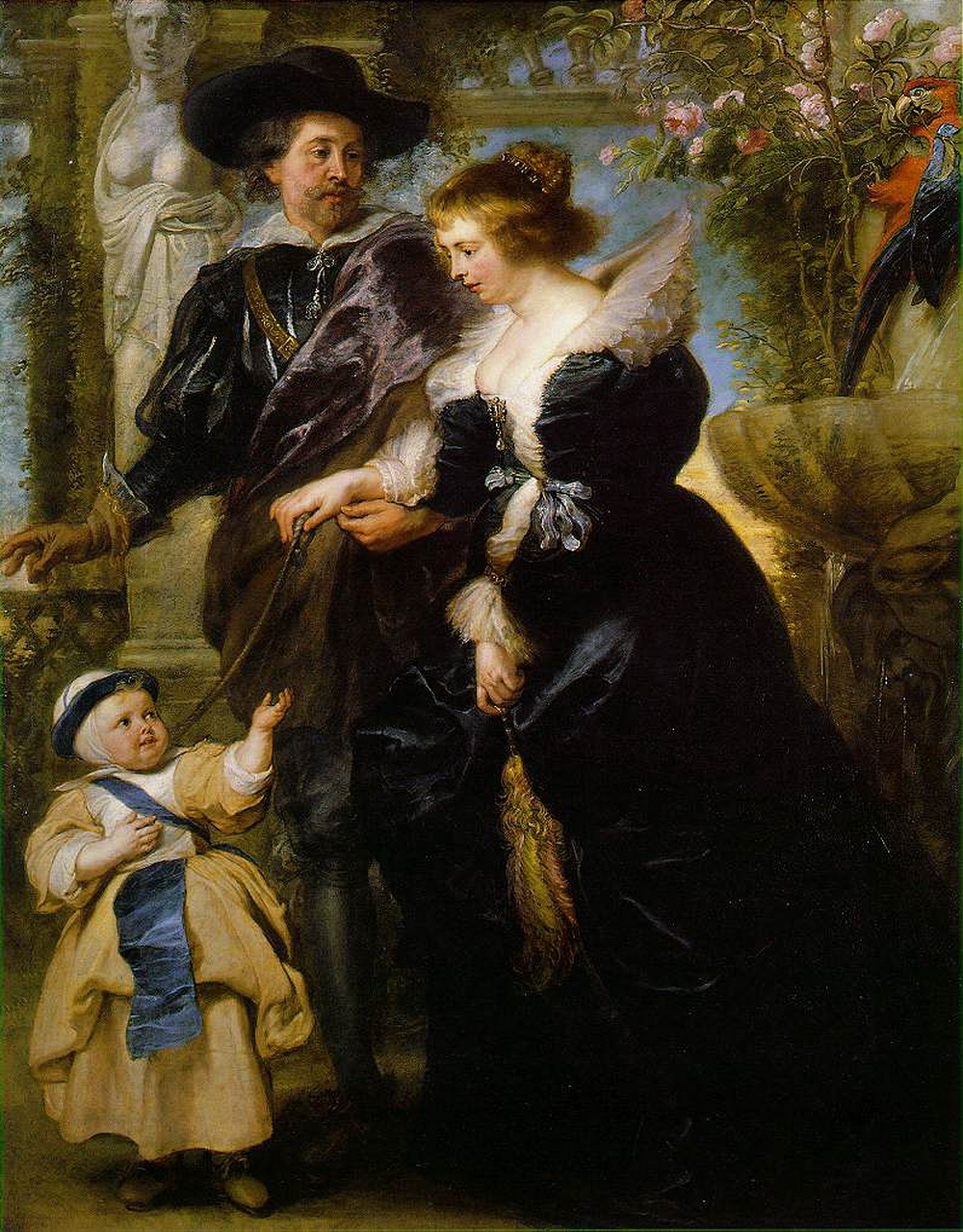 Rubens His Wife Helena Fourment 16141673 and Their Son Frans-2