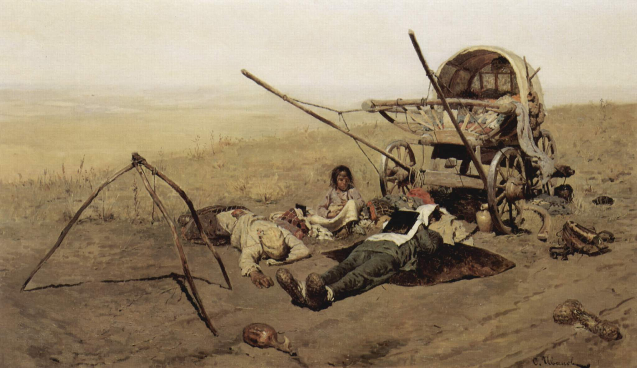S. V. Ivanov. On the road. Death or a migrant. 1889