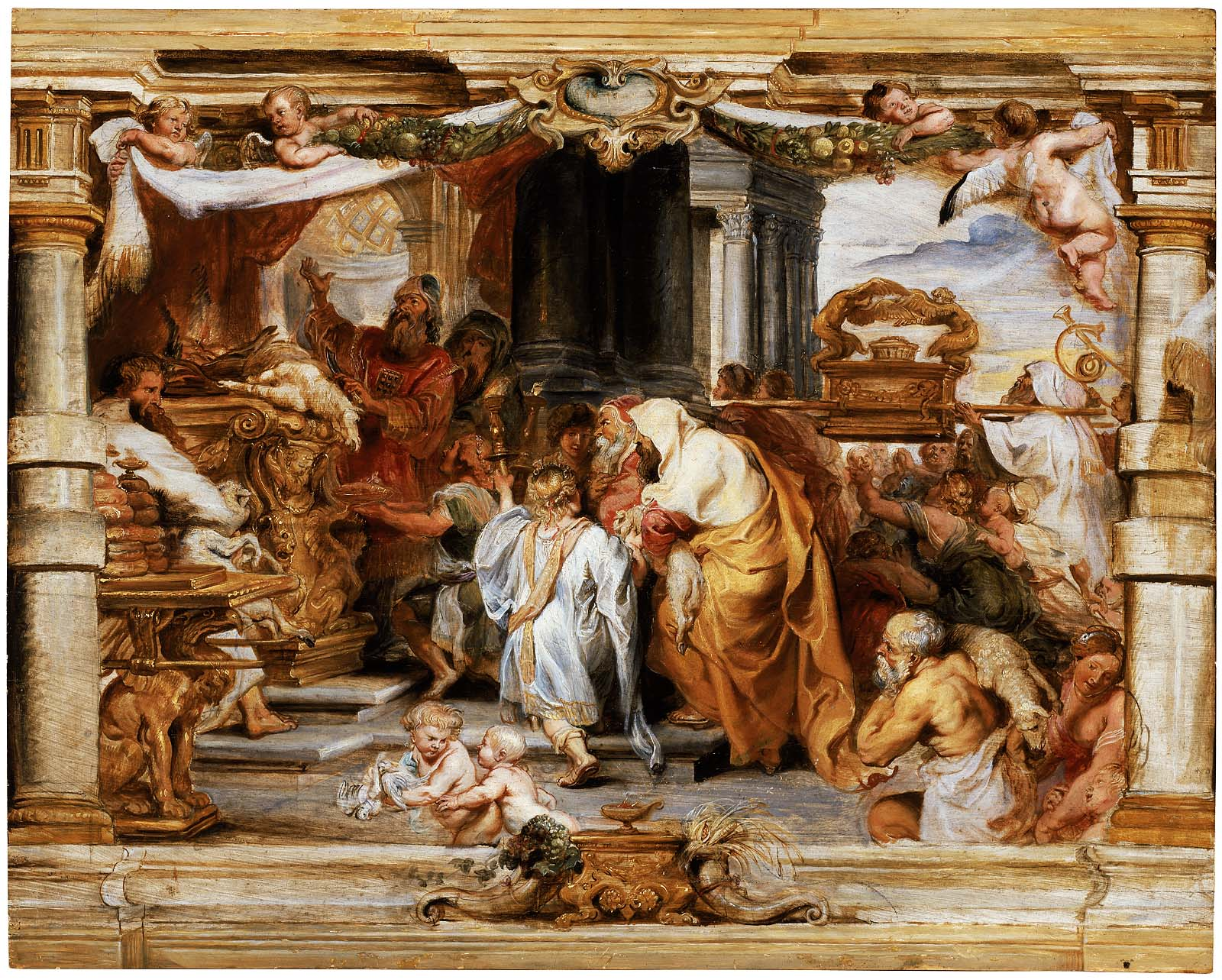 Sacrifice of the Old Covenant Rubens