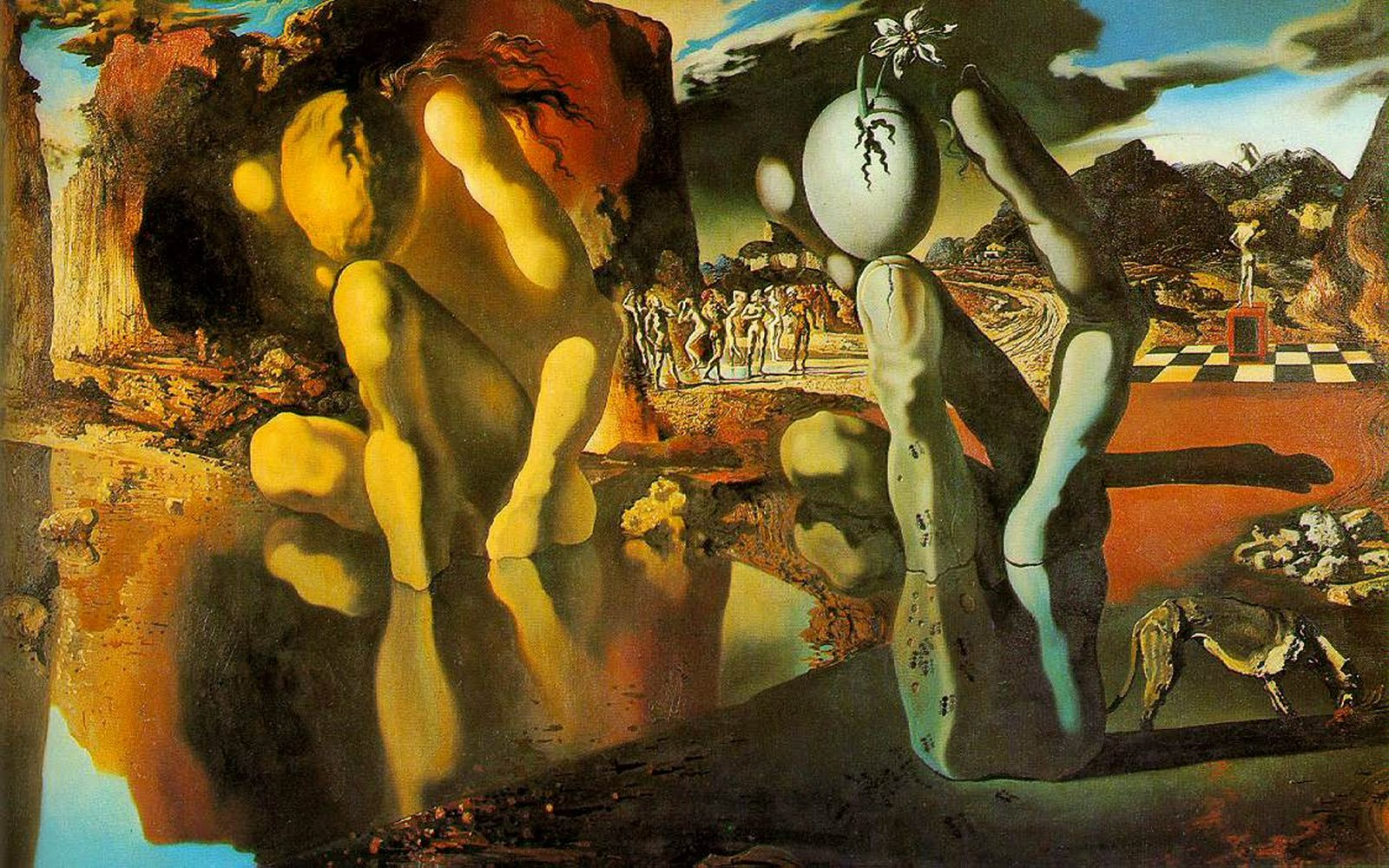 Salvador Dali The Metamorphosis of Narcissus 1937