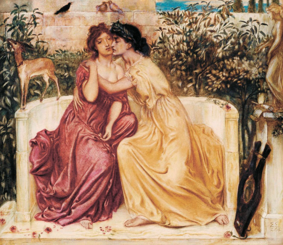 Sappho and Erinna in a Garden at Mitylene 1864 Simeon Solomon