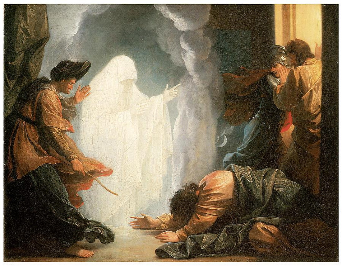 Saul and the Witch of Endor by Benjamin West-1100