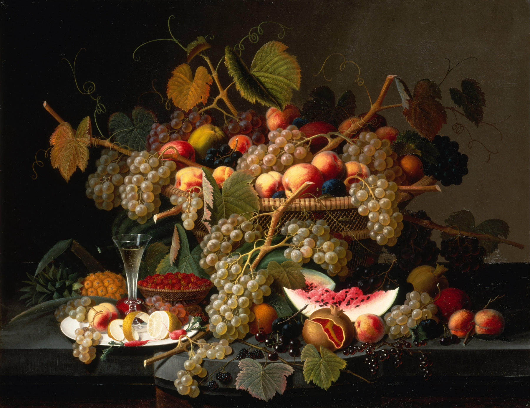 Severin Roesen - Still Life with Fruit 2