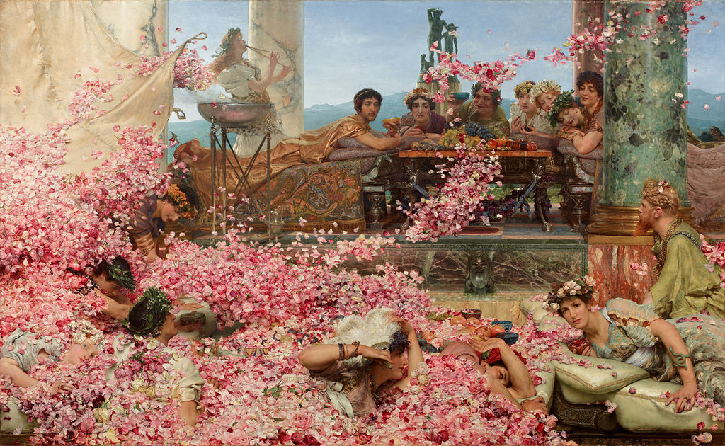 Sir Lawrence Alma-Tadema-The Roses of Heliogabalus