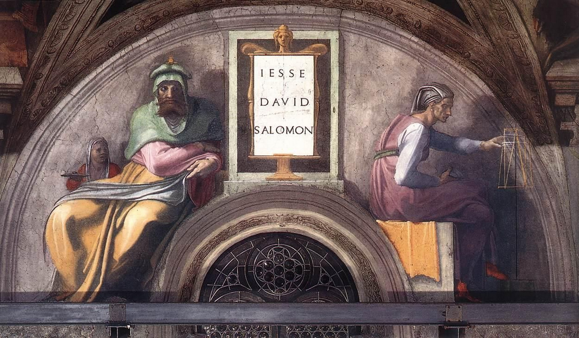 Sistine Chapel Ceiling Ancestors of Christ Jesse - David - Solomon