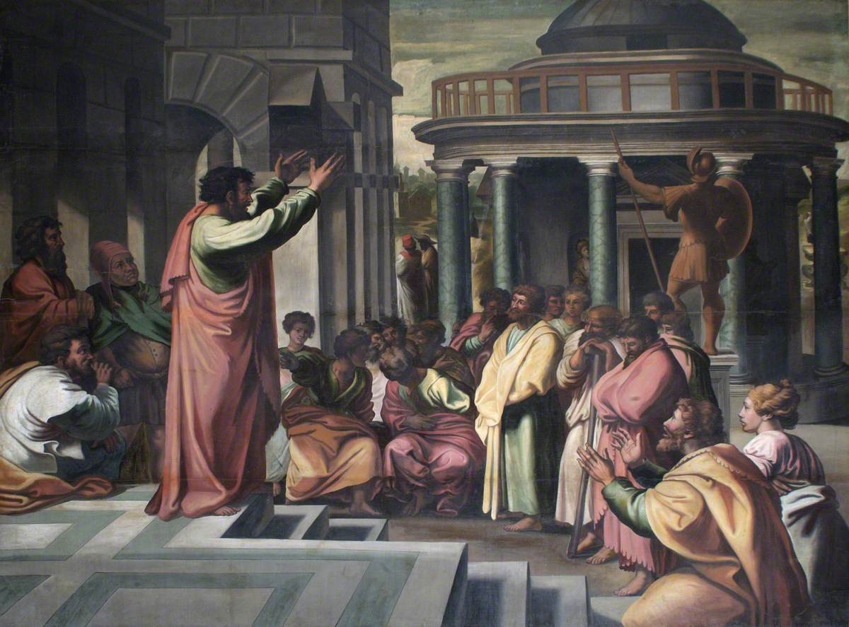 St. Paul preaching at Athens - Raphael