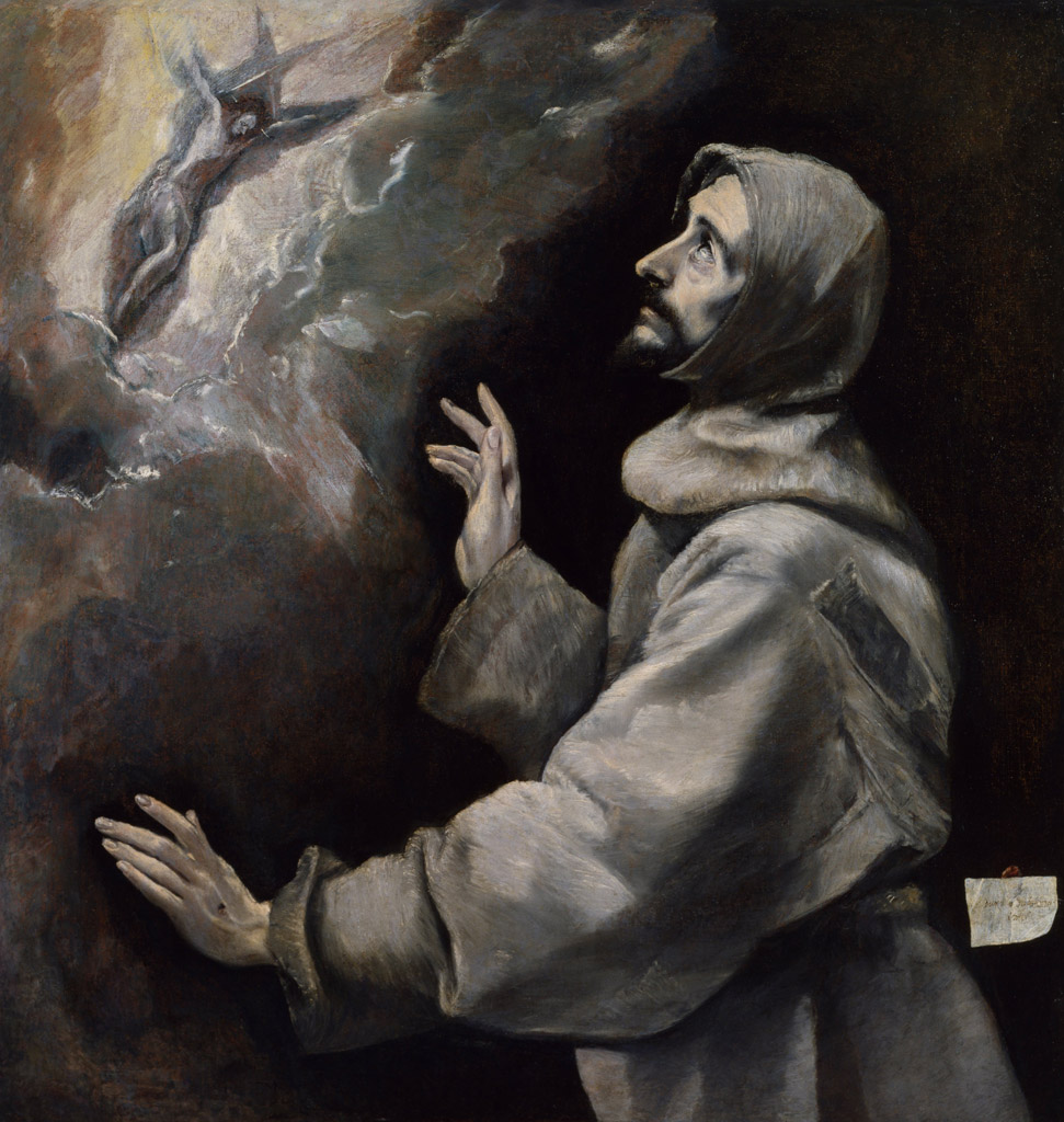 St Francis receives the stigmata. El Greco 1577-79