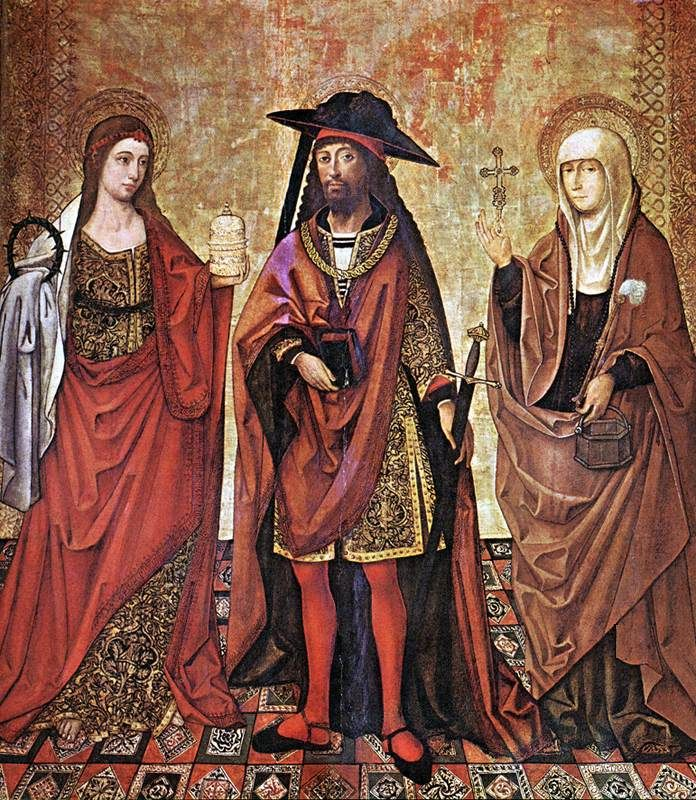 St Lazarus between Martha and Mary. 1498-1504