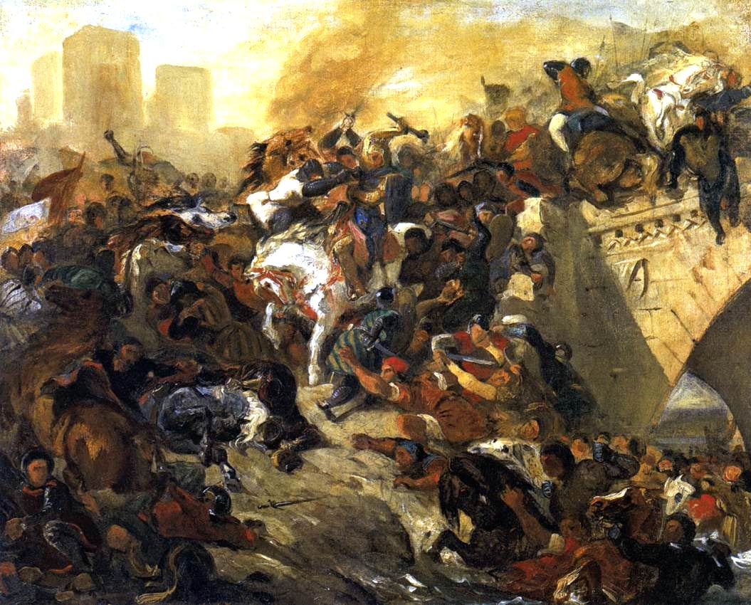 The Battle of Tailleburg. Eugene Delacroix