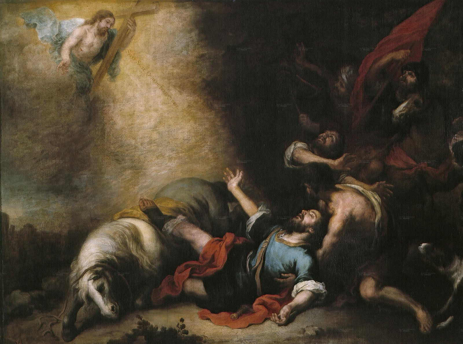 The Conversion Of Saint Paul by Bartolome Esteban Murillo