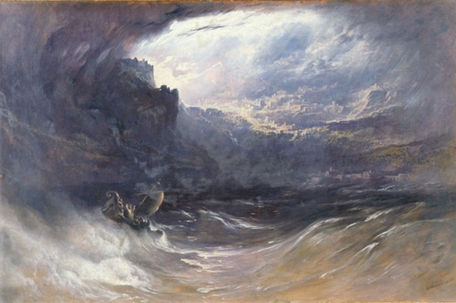 The Deluge by English romantic painter Martin John 1834