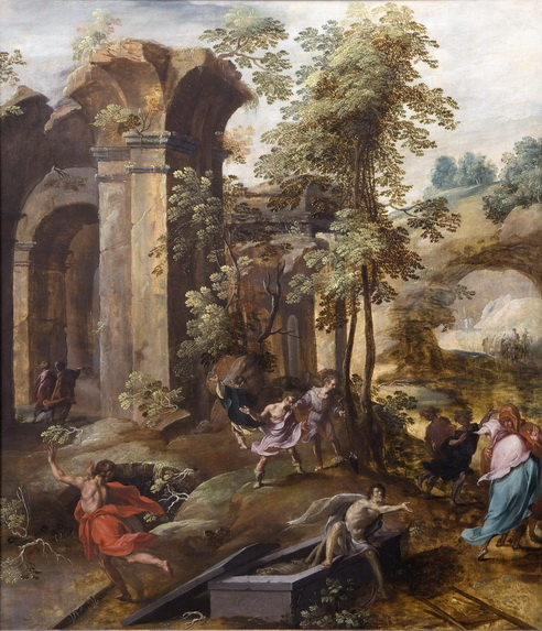 The Miracle at the Grave of Elisha by Jan Nagel d 1602