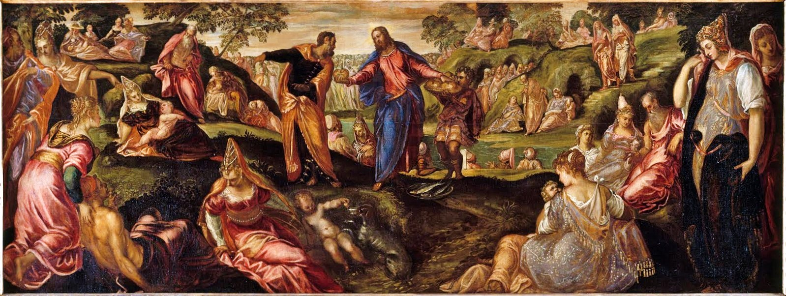 The Miracles of the Loaves and Fish. Tintoretto 1547