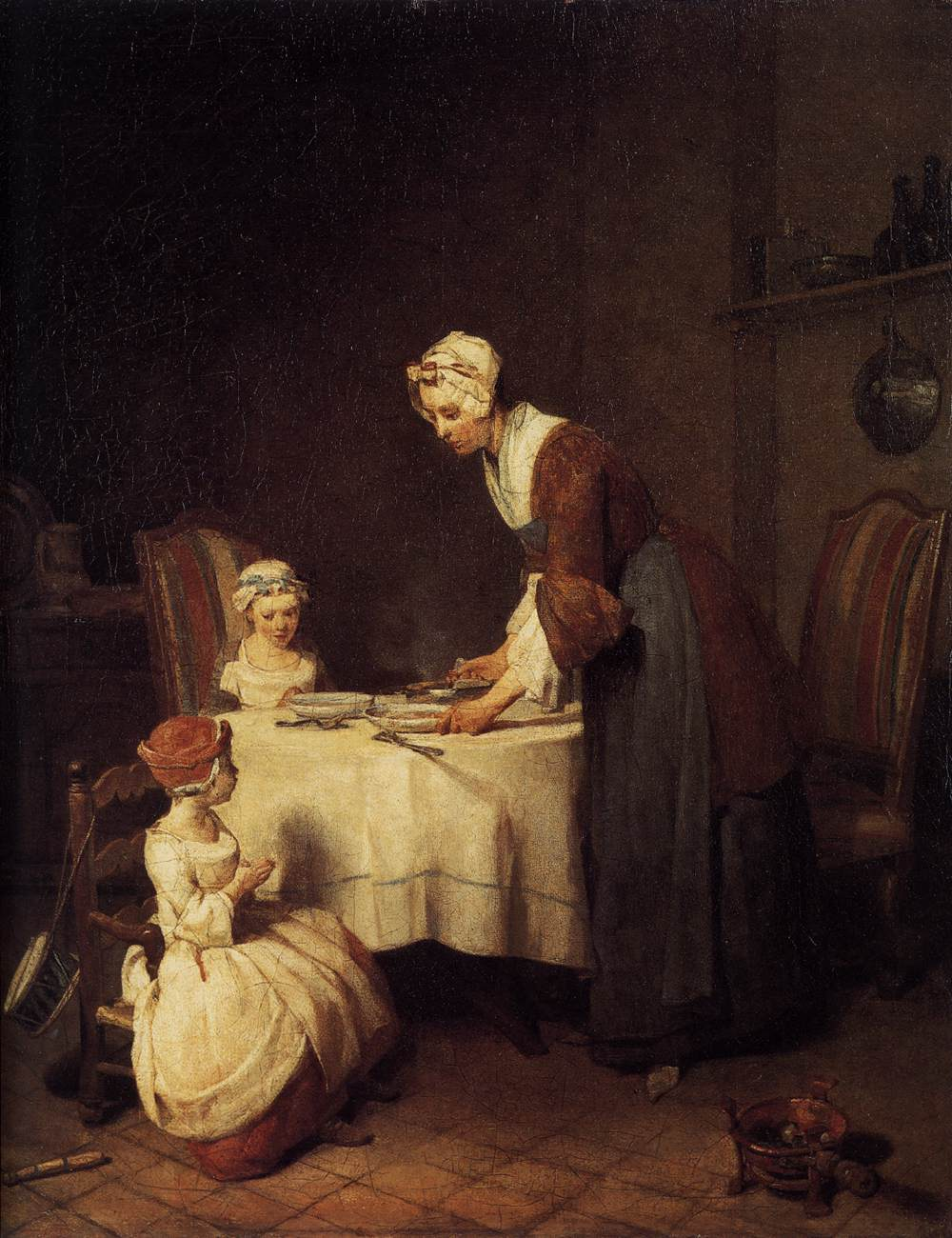 The Prayer before Meal 1740 - Jean-Baptiste-Simeon Chardin
