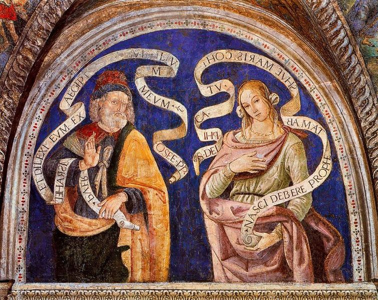The Prophet Hosea and the Delphic Sibyl PINTURICCHIO 1492-94