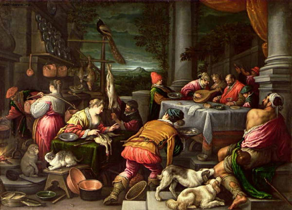 The Rich Man and Lazarus 1590-95 Leandro Bassano-1200