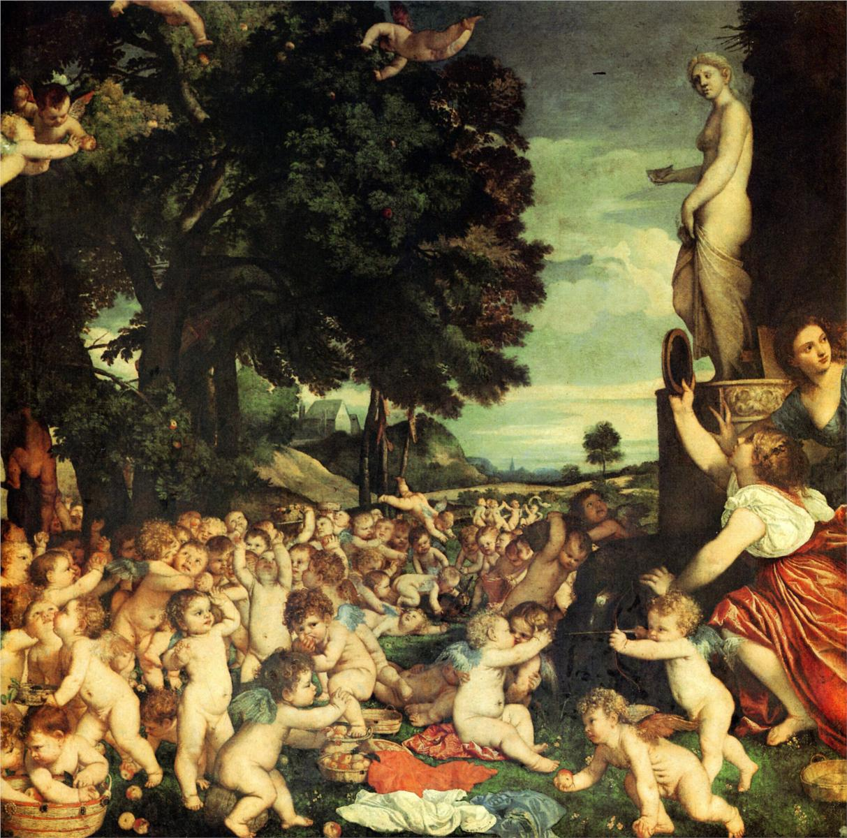 The Worship of Aphrodite by Titian 1518