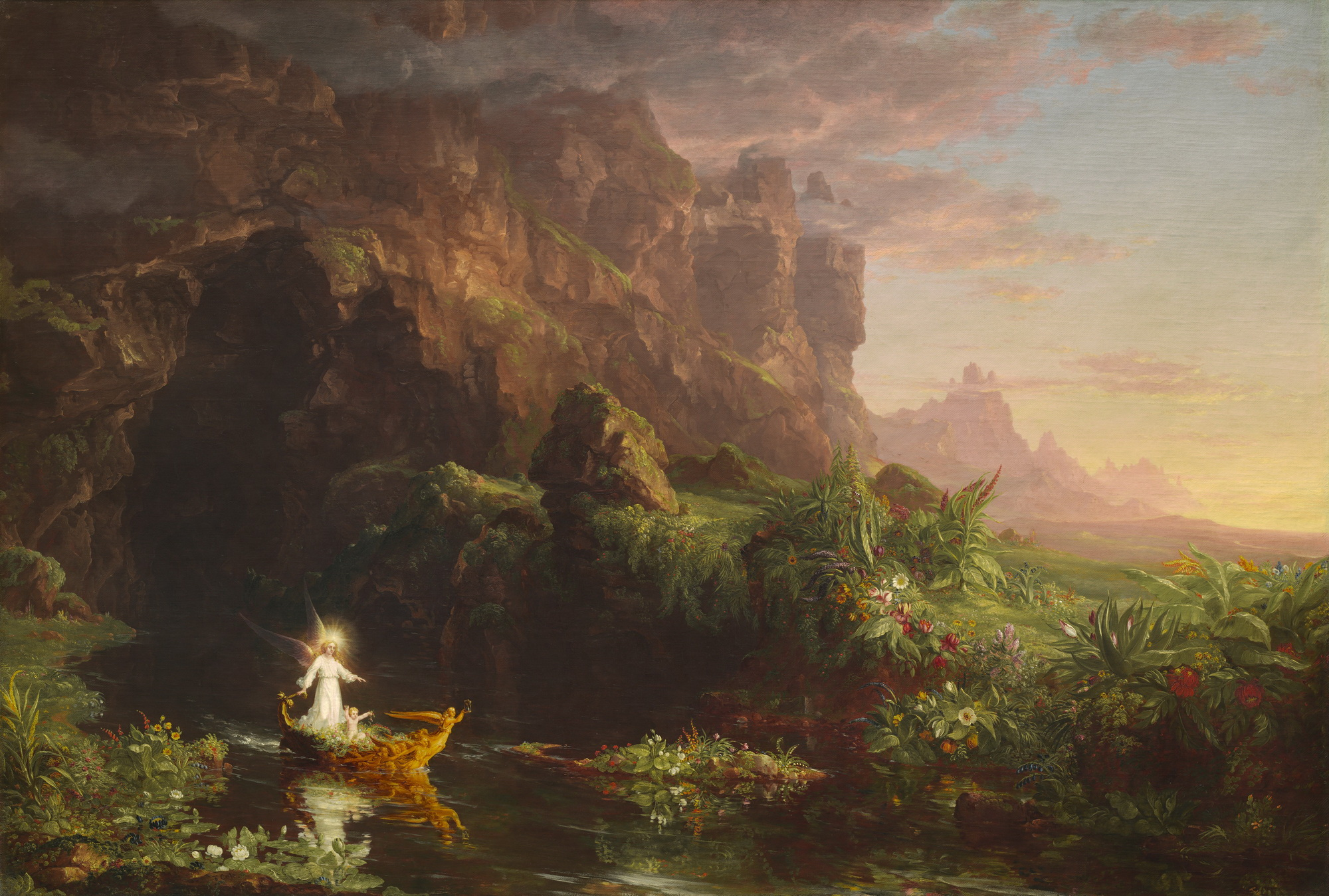 Thomas Cole - The Voyage of Life Childhood 1842-2000
