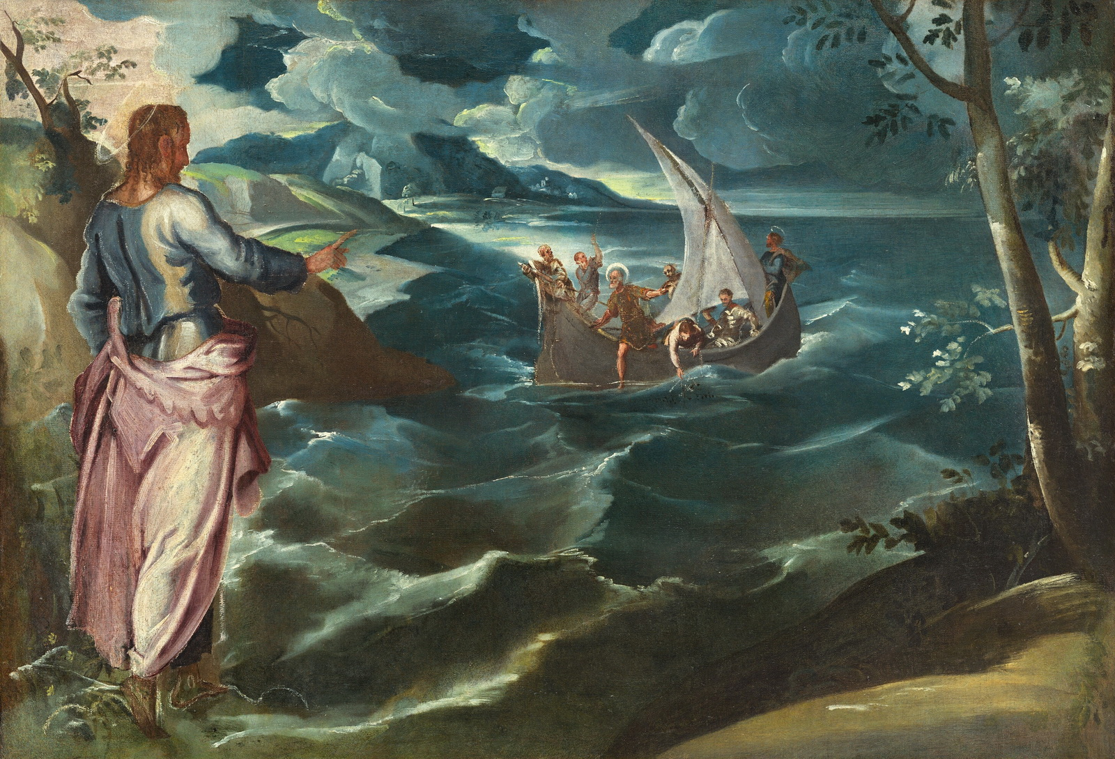Tintoretto Jacopo - Christ at the Sea of Galilee-1600