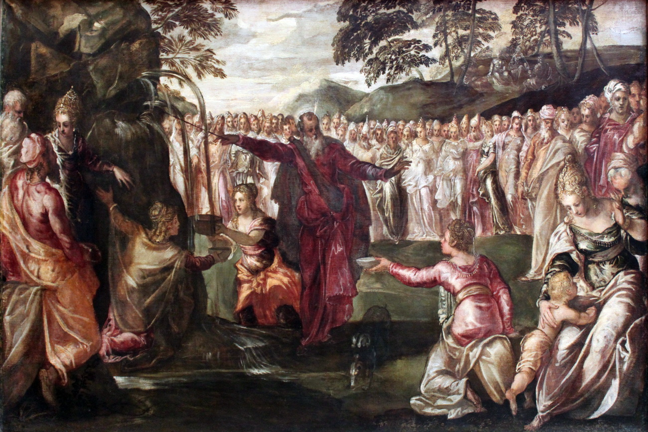 Tintoretto Moses Striking the Rock anagoria 1563-1300
