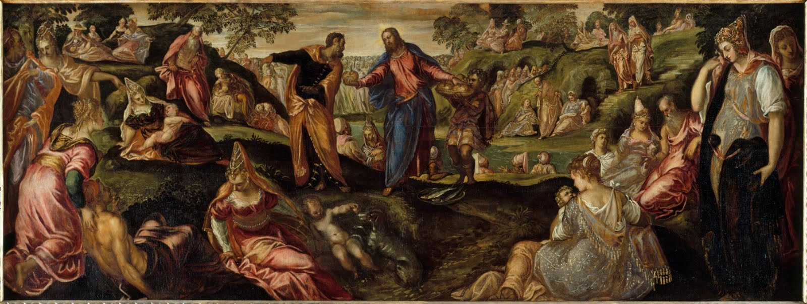 Tintorettos Miracle of the Loaves and Fishes c 154550