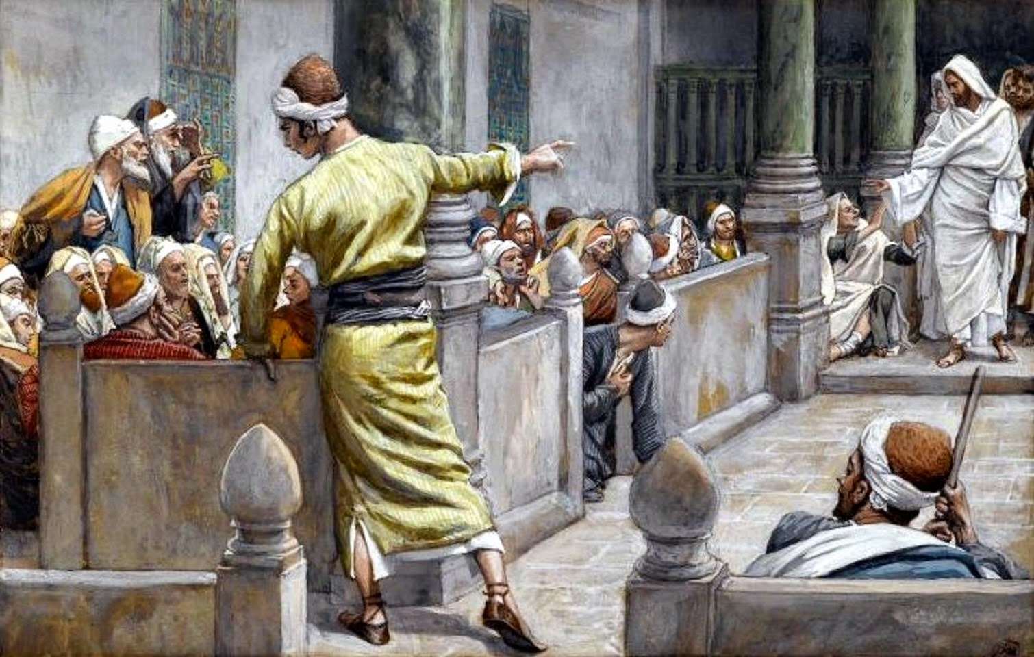 Tissot-Healed Blind Man Tells His Story to the Jews-2