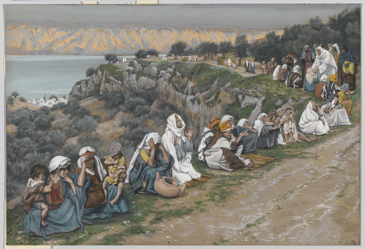 Tissot-Sick Waiting for Jesus to Pass By  Heal Them