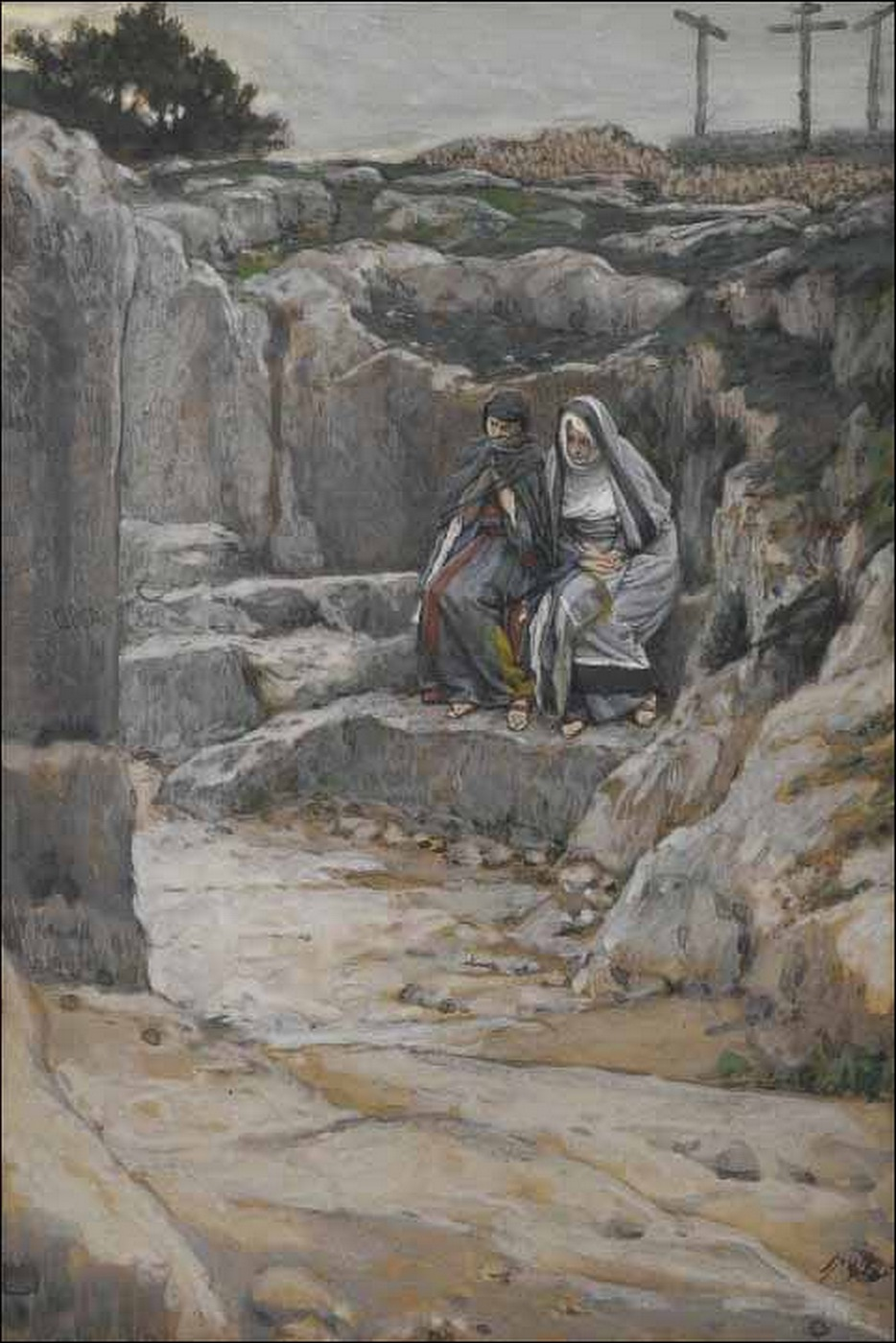 Tissot-The-two-Marys-watch-at-the-Tomb-of-Jesus