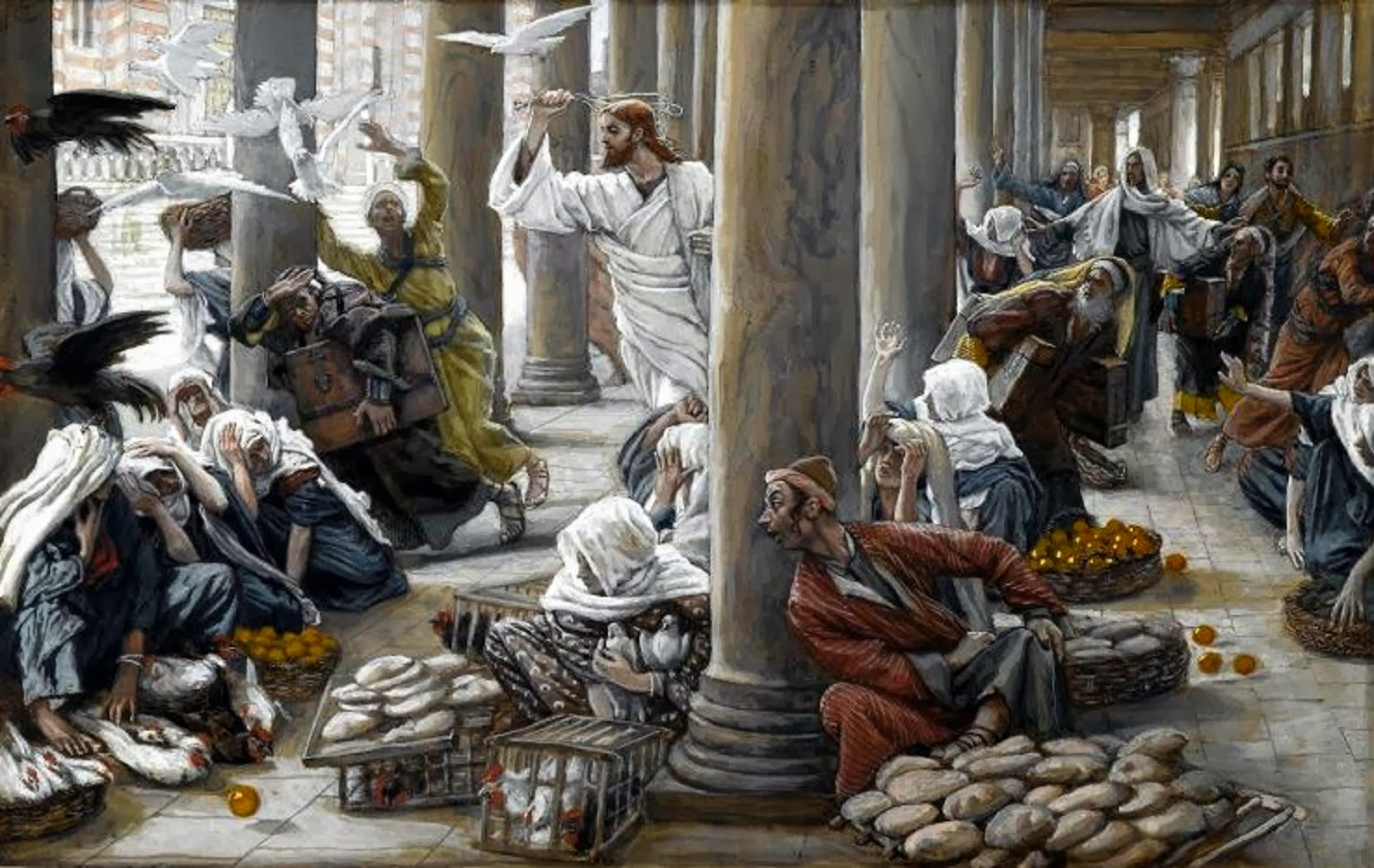 Tissot-The Merchants Chased from the Temple