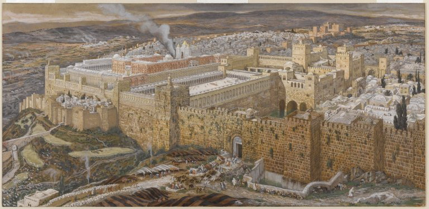 Tissot-brooklyn museum - reconstruction of jerusalem and the temple of herod 1400