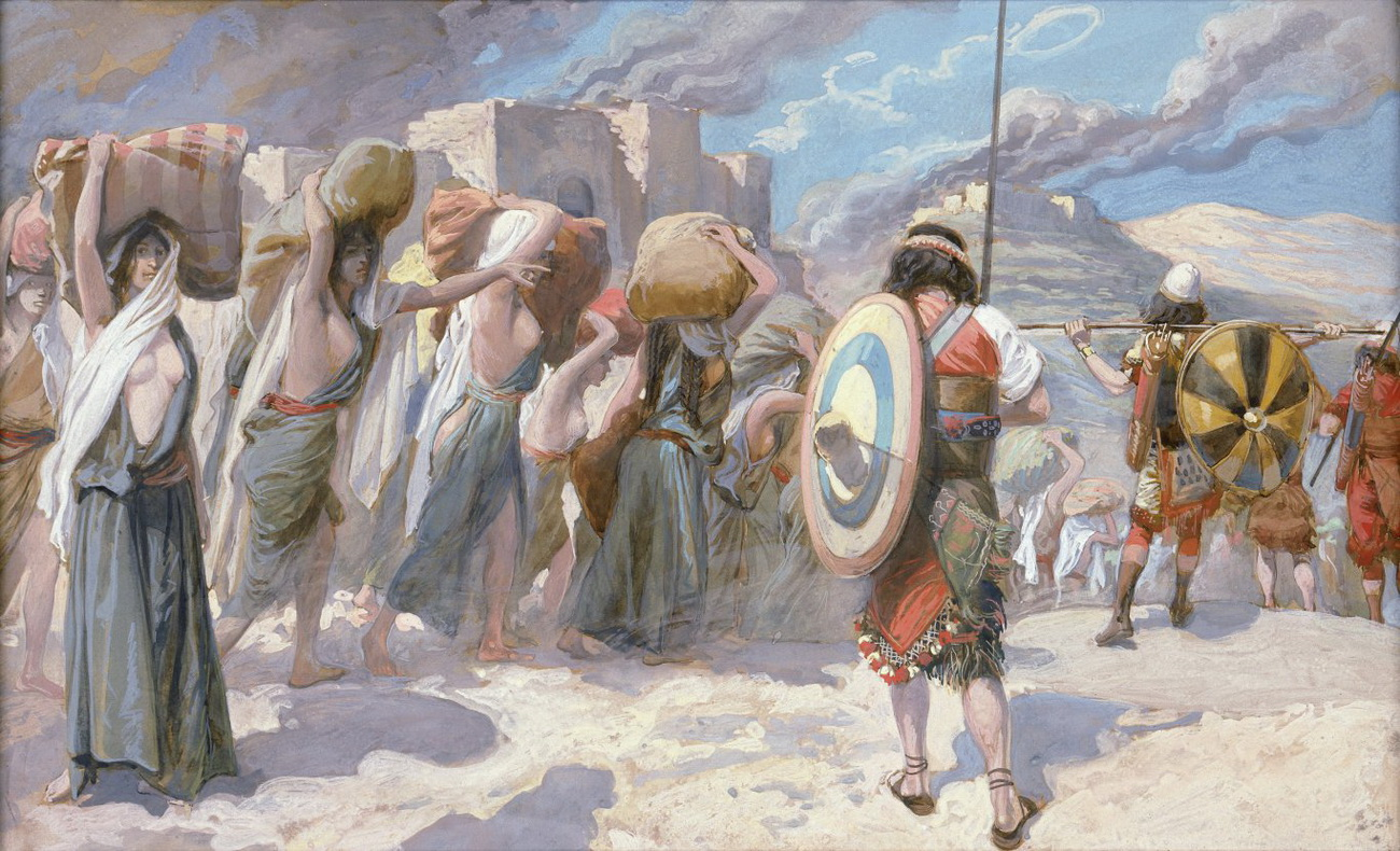 Tissot-the Women of Midian Led Captive by the Hebrews-1300