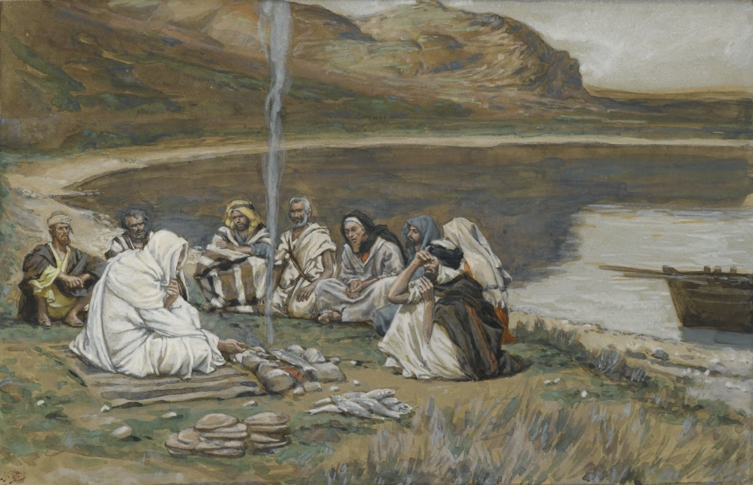 Tissot Jesus Eats Breakfast with His Disciples