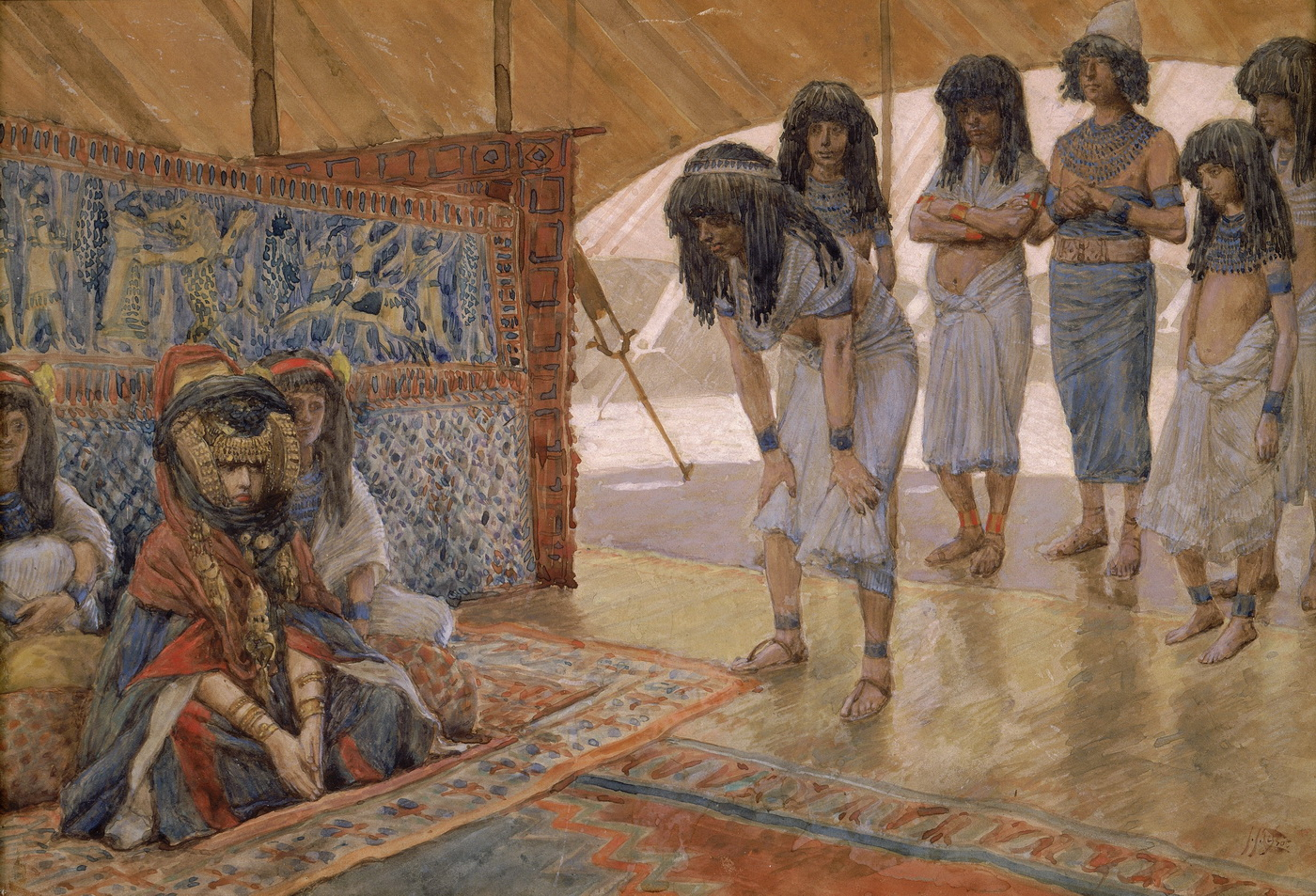 Tissot Sarai Is Taken to Pharaohs Palace-1400