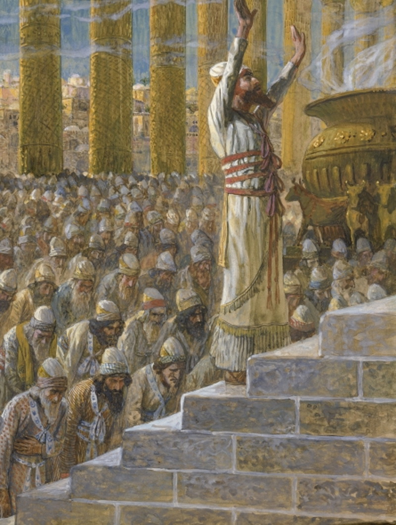 Tissot Solomon Dedicates the Temple at Jerusalem-3