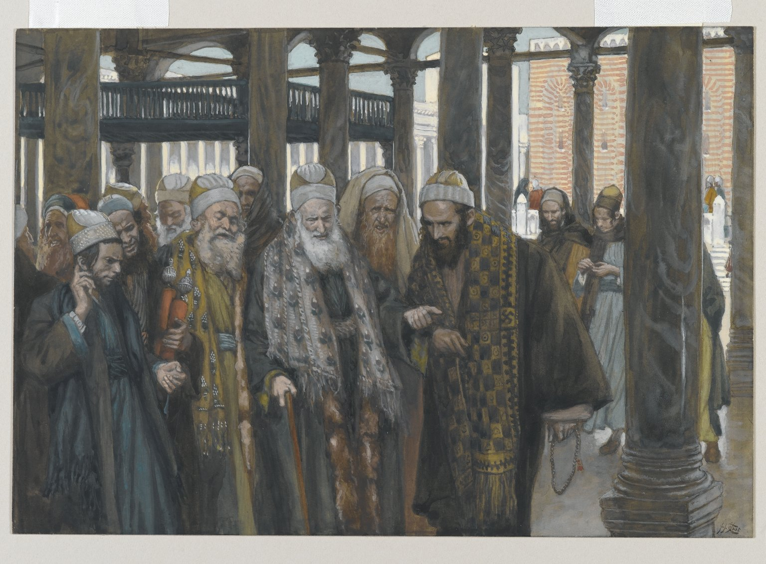 Tissot The Chief Priests Take Counsel Together