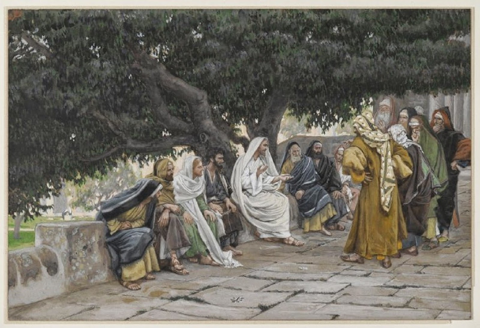 Tissot The Pharisees and the Saduccees Come to Tempt Jesus