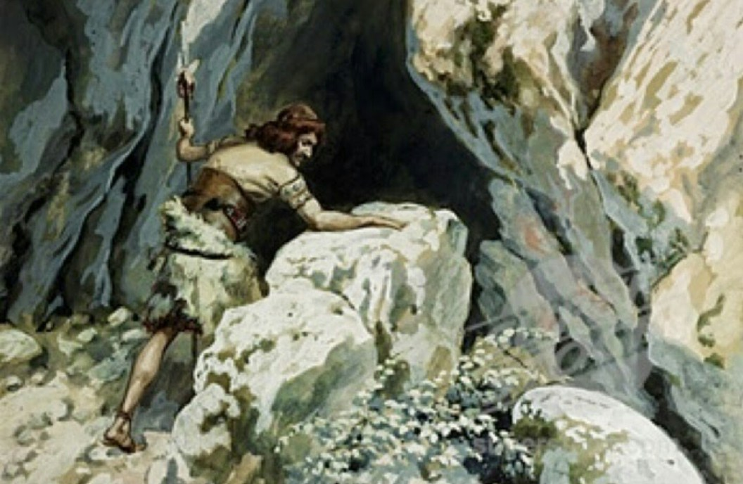 Tissot the cave of Adulam