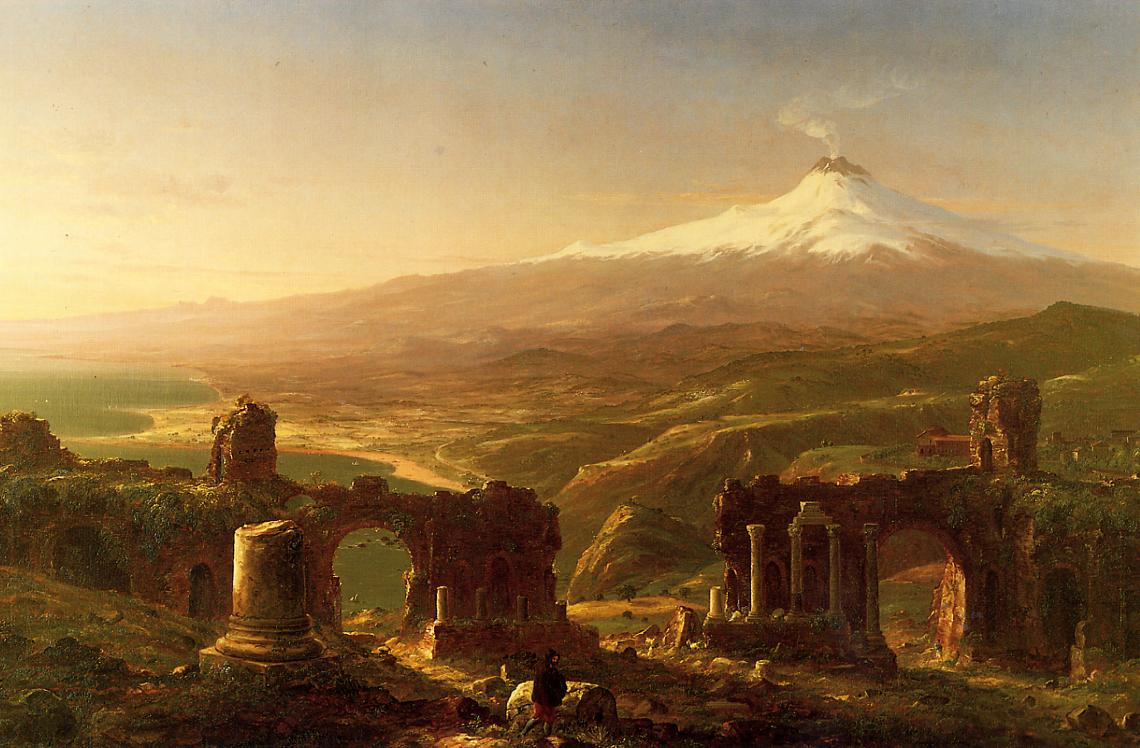 Tomas Cole Mount Etna from Taormina  1843