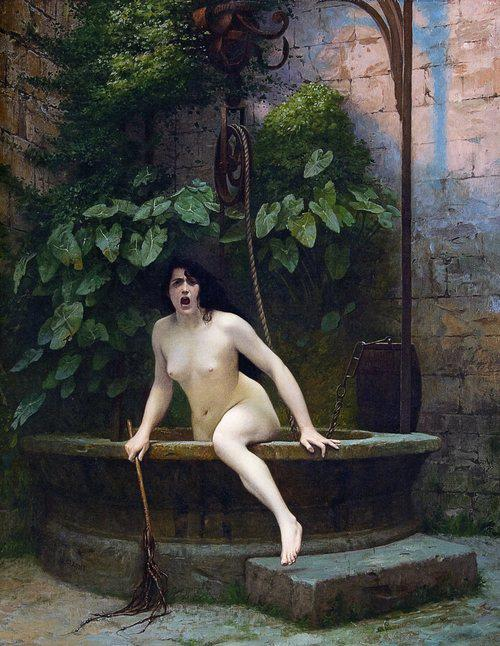 Truth Coming Out of Her Well to Shame Mankind 1896