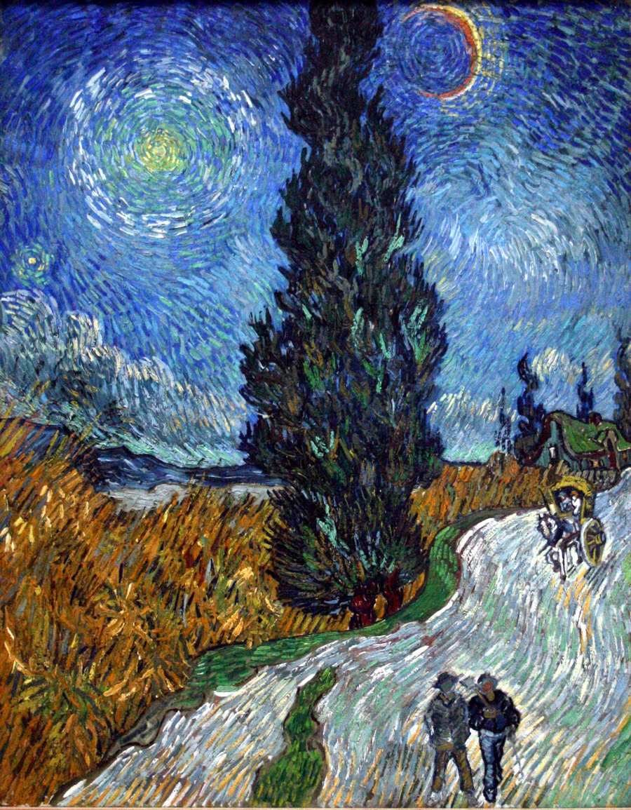 Van Gogh - Country road in Provence by night-900
