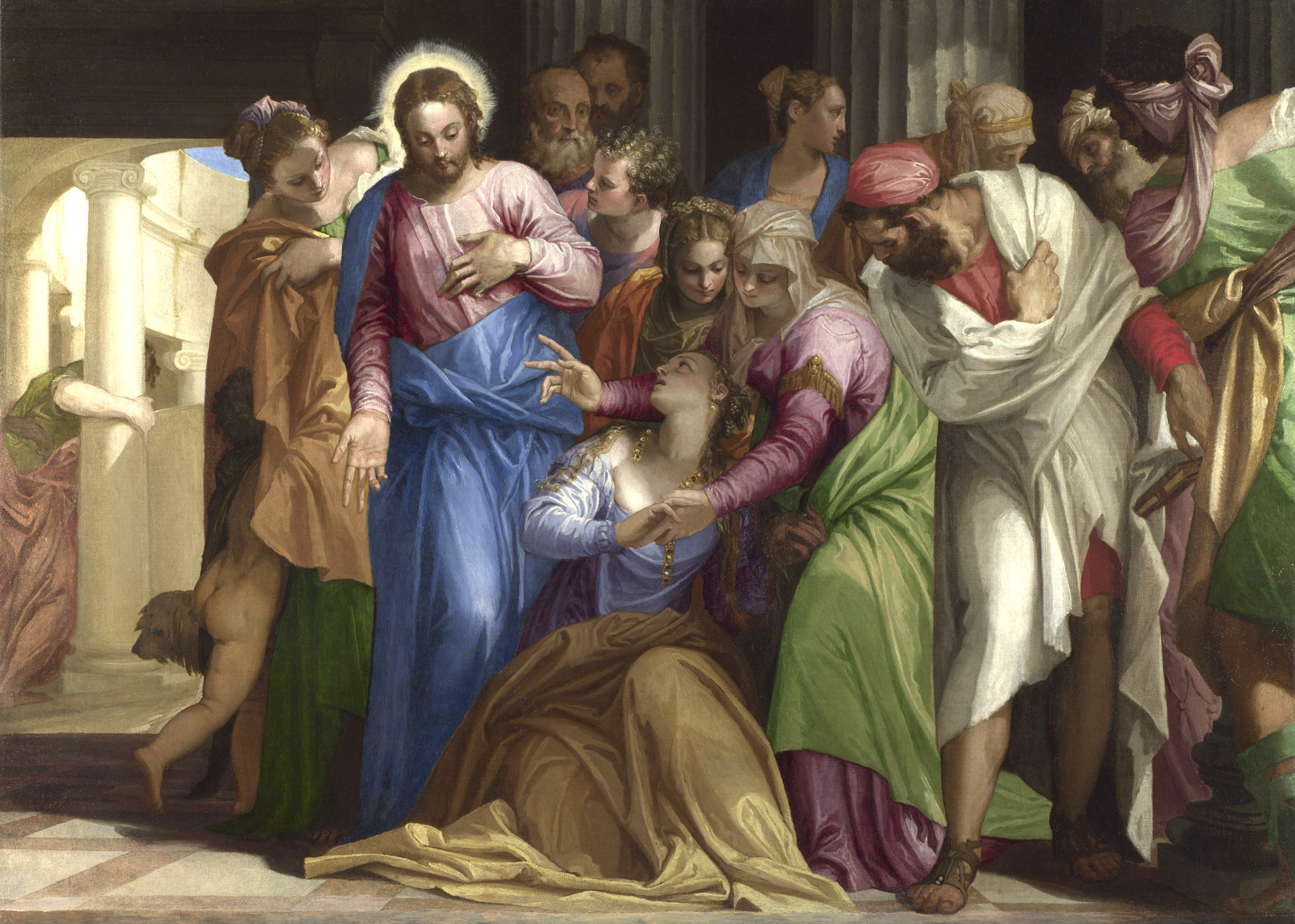Veronese Christ Healing a Woman with an Issue of Blood