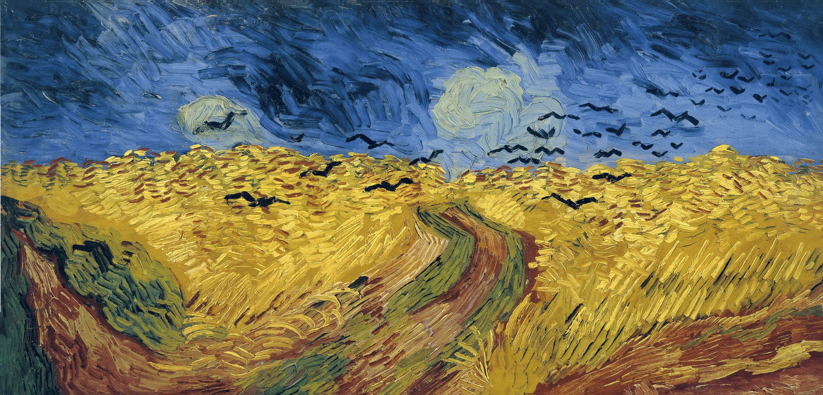 Vincent Van Gogh-Wheatfield with Crows 1890-1600