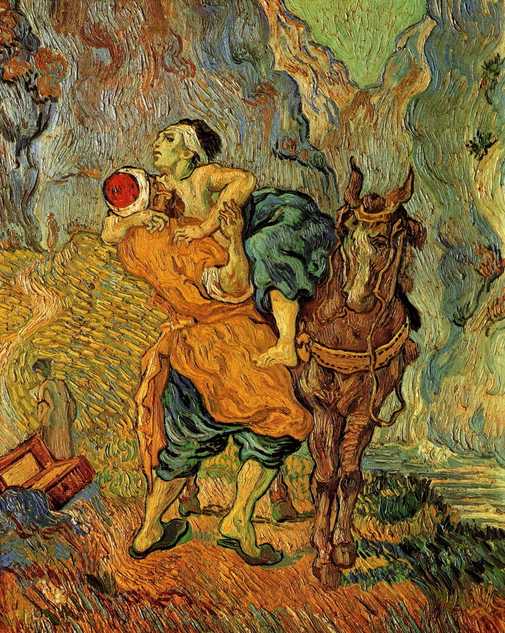 Vincent Van Gogh 1853-1890 The Good Samaritan-after-delacroix-1890-1000