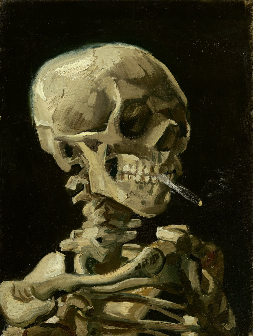 Vincent van Gogh - Head of a skeleton with a burning cigarette-1000