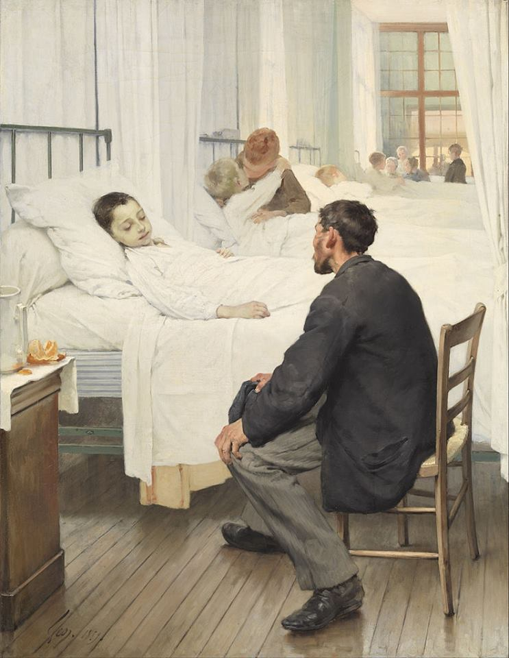 Visit Day at the Hospital - Jean Geoffroy 1889