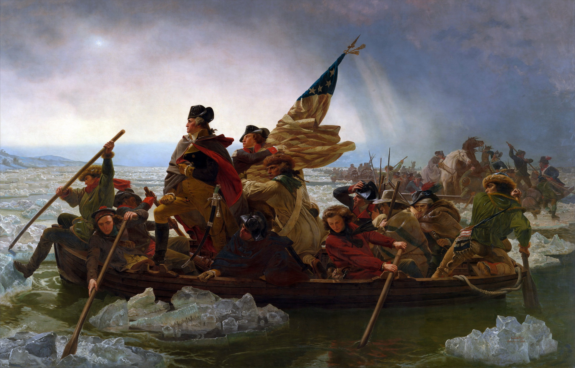 Washington Crossing the Delaware by Emanuel Leutze MMA-NYC 1851-2000