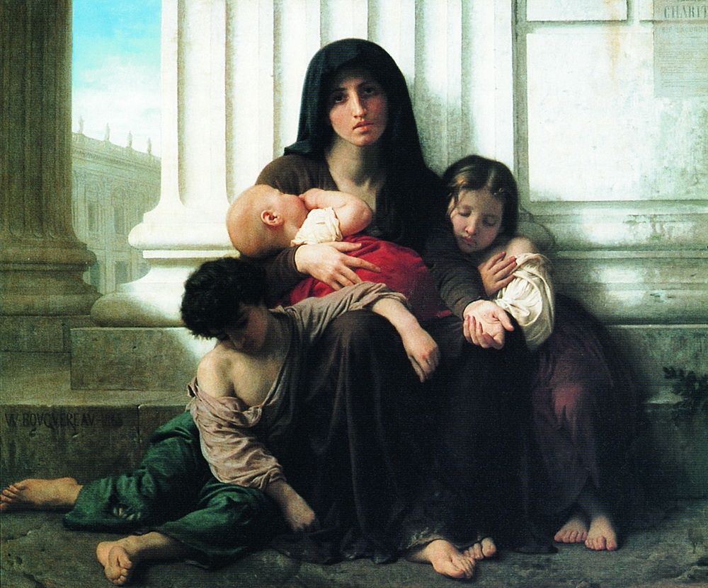 William-Adolphe Bouguereau Бідна родина