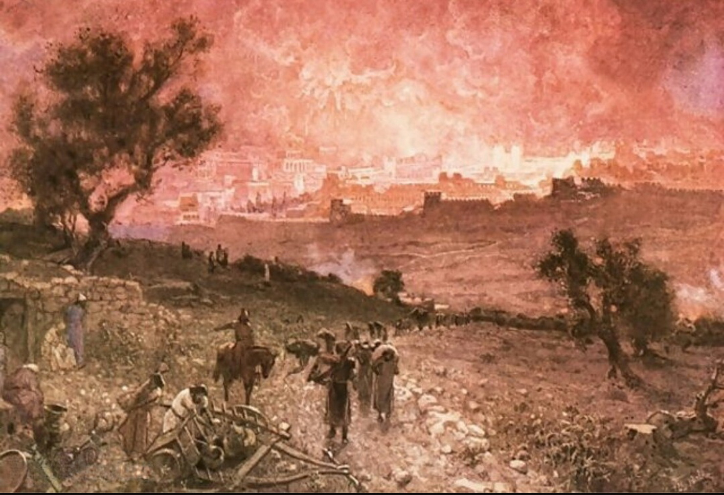 William Brassey Hole 1846-1917-the-destruction-of-jerusalem-by-nebuzar-adan