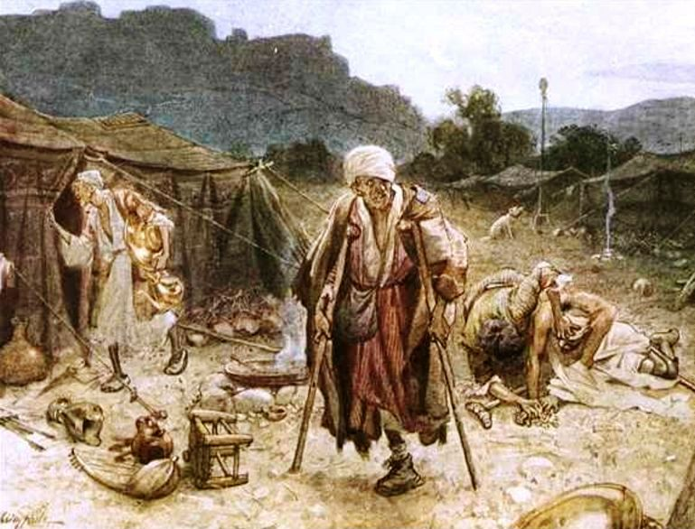 William Brassey Hole The four lepers looting the camp of the Syrians